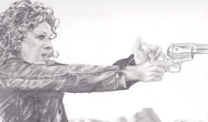River Song With a Pistol by whovian29