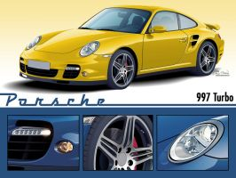 Porsche 997 Turbo WALLPAPER by CRWPitman