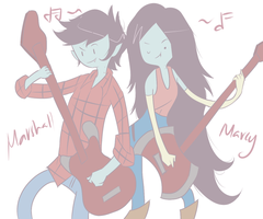marceline and marshall Lee by jojorules911
