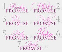 Typography Test - Pinky Promise Fonts by OmegaMine