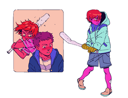 boys with bats by Dana-T