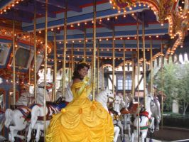 Belle on Carousel by TangerineVampire