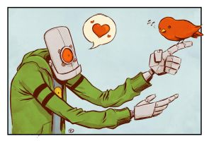 Robots love birds. by phillip-r