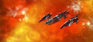 Eldar Ebon Fleet by Addinarr