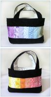 Black rainbow patchwork bag by restlesswillow