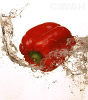 Splashing Pepper n.1 by Carnisch
