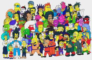 Dragonball Simpsons Crossover by KrillinsBarber