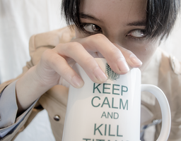 SnK Cosplay - Keep Calm and KILL by VenTsun