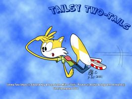 Tailsy two-Tails-wallpaper by spongefox