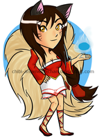 League of Legends- Ahri chibi by Chibi-Angelwolf-chan