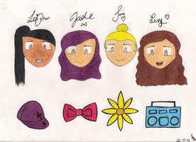 Little Mix Chibis by xNiciCupcake