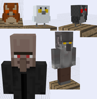 More Minecraft SUPAH SCARY Mob Ideas by RedPanda7