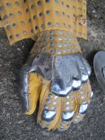 Wisby #3 gauntlets in spring steel by BrianBrownArmoury