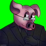 {Key/Metal Commission} Mr. Piggy Icon FIXED by Spychedelic