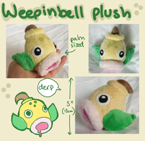 Weepinbell pokedoll plush