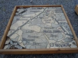 Remnants Of The Map Of New York State III by Brooklyn47