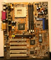 texture: mother board front by cyborgsuzystock