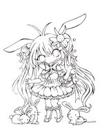 Little carrot chibi lineart by 3bgrass by 3bcrane