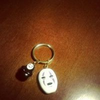 Kaonashi Charm Keychain (No Face/ Spirited Away) by aoi9875