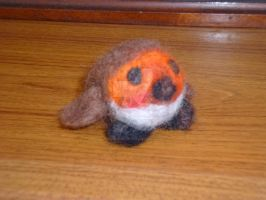 Needle Felted Robin by Groovy-Gecko