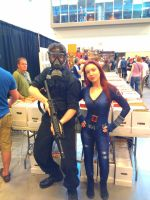 NF Comicon : Me and Black Widow by TheWarRises