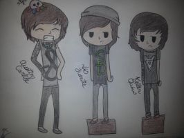 Austin Carlile, Vic Fuentes, and Kellin Quinn by OhSoBl0nde