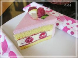 Duo berry mousse cake by Gemminarak
