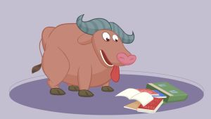 The Book Eating Buffalo by senimation