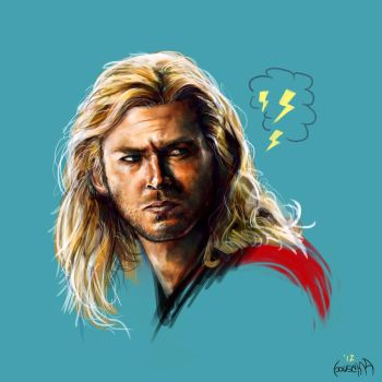 Chris Hemsworth portrait by JamesBousema