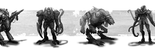 Sci-Fi Creature Designs by mlappas