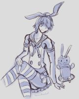 AT:Araragi dressed as Shimikaze by AzylSagara