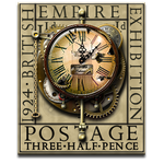 Steampunk Weathered Clock Icon and Stamp by yereverluvinuncleber