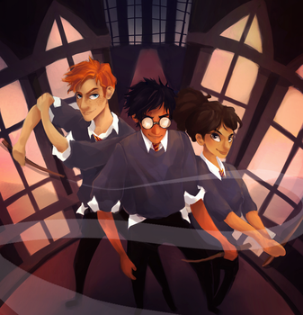 The Golden Trio by Dreamsoffools