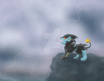 Luxray's Lightning by Wingedwolfflight