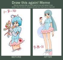 before and after mememe by reyokk