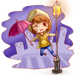 singing in the rain by Kathy-Scarlet