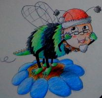 Legrand Christmas bee says oh you by pie-lord