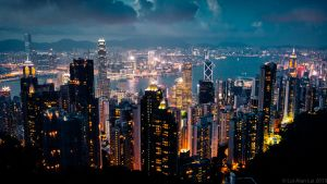 Hong Kong Night by Richteralan