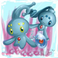 Manaphy family by Pluffers