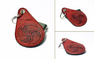 Triskelion key pendant by leatherforfun