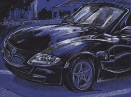 Sharpie and Prismacolor BMW Z4 by Heatherbeast