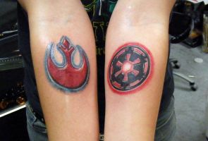 Rebel and Imperial Logos by maulsballs