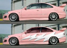 pink car by fastworks