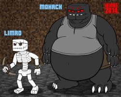 Limro the Skeleton and Mohack the Spider by DragonDoctor