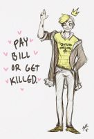 School bully Bill Cipher? by JuditG