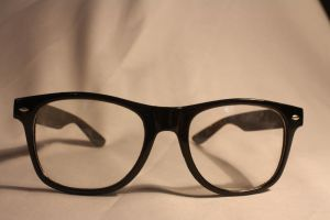 thick rimmed glasses stock 01 by Nekopie