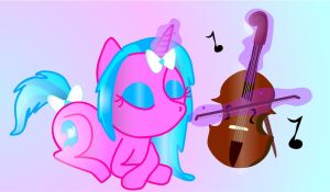 Creative Blue Playing Voilin by Peach-the-mouse