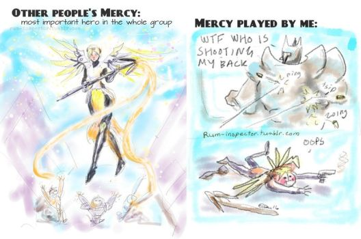 Playing Mercy in Overwatch by rum-inspector