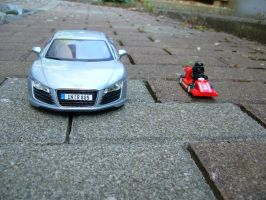 Audi R8 vs Darth Vader Racer by Predator843564e3
