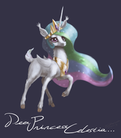 Deer Princess Celestia by AssasinMonkey